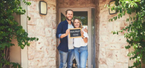 Couple at a home for sale stephenville